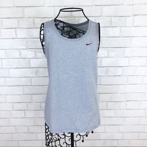 Nike Light Gray Athletic Tank Top